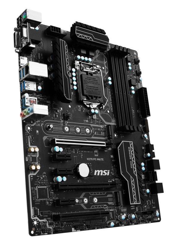 MSI Intel H270 PC MATE LGA 1151 ATX Motherboard