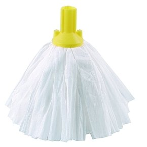 Standard Big White Exel Mop Yellow (Pack of 10)