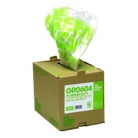 The Green Sack Clear Refuse Bag in Dispenser (Pack of 75)