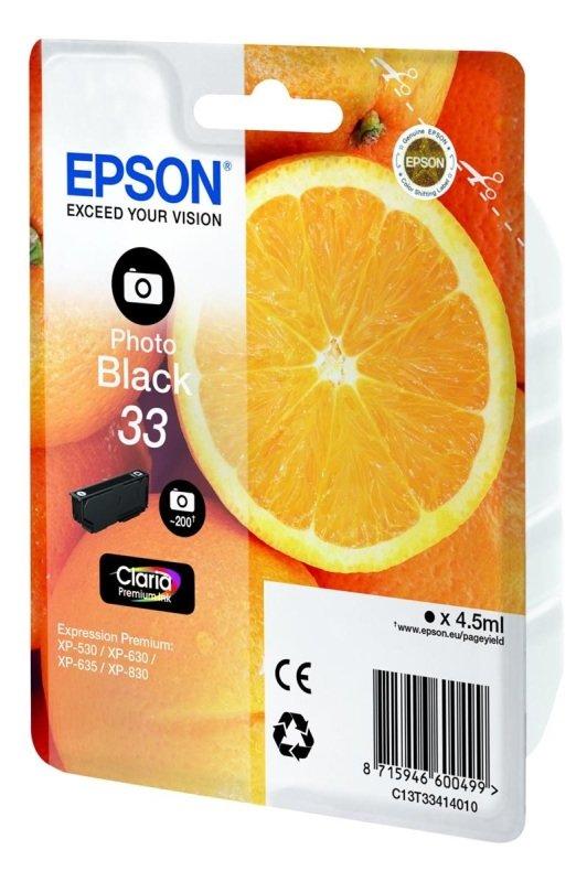Epson Ink CartClaria Prem SP 33 Photo Black