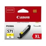 Ink Cart/CLI-571XL Yellow Blister w/Sec
