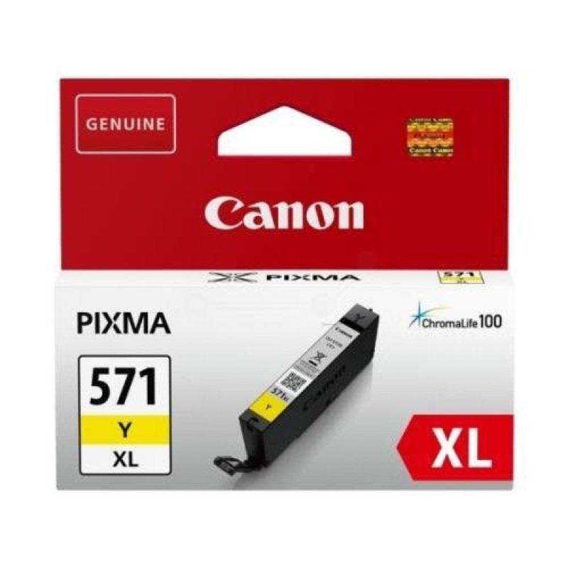 Ink Cart/CLI-571XL Yellow Blister w/Sec