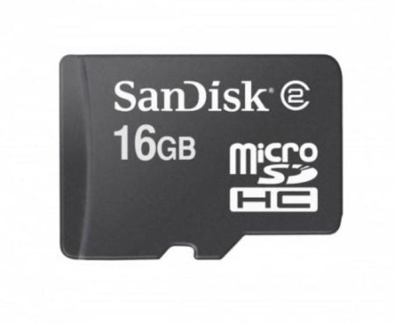 SanDisk 16GB Class 4 MicroSD Including microSD to SD Adapter