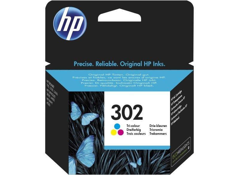 HP 302 Tricolor  black Original Ink Cartridge