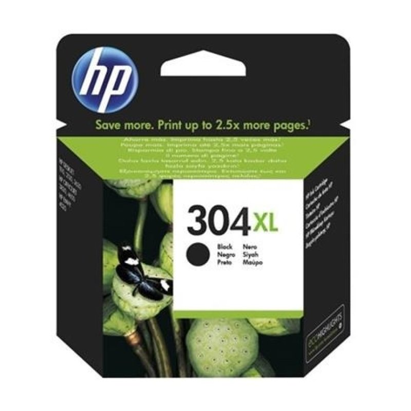 HP 304XL Black OriginalInk Cartridge - High Yield 300 Pages - N9K08AE