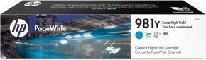 HP 981Y Extra High Yield Cyan Original Ink Cartridge - L0R13A