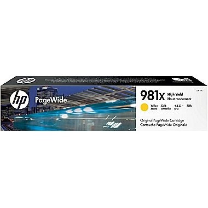 HP 981X Yellow Original Ink Cartridge - High Yield 11000 Pages - L0R11A