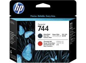 HP Ink/744 Matte Black+Red Printhead