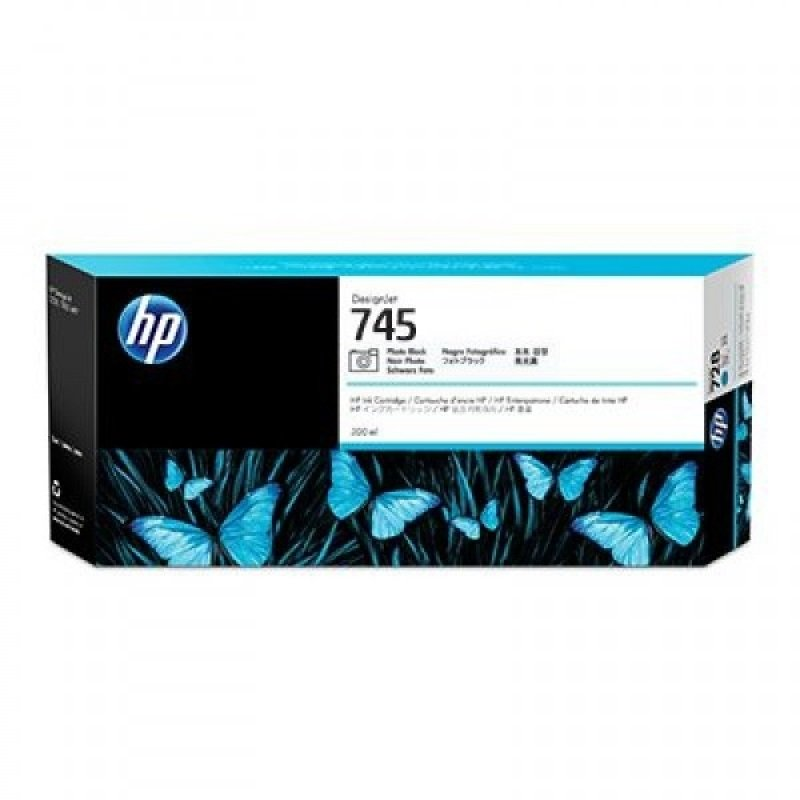 HP 745 Photo Black Original Ink Cartridge - High Yield	300ml - F9K04A