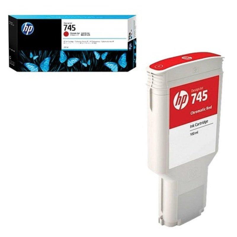 HP 745 Chromatic Red OriginalInk Cartridge - High Yield 300ml - F9K06A