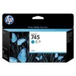 HP 745 Cyan Original Ink Cartridge - Standard Yield 130ml - F9J97A