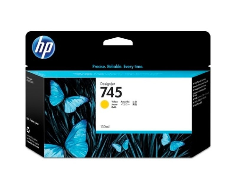 HP 745 Yellow	Original Ink Cartridge - Standard Yield 130ml	 - F9J96A