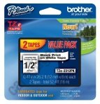 Brother TZE-231 Black on White Labels Cartridges - Twin Pack