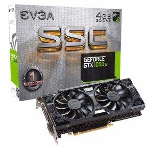 EVGA Nvidia GeForce GTX 1050 Ti 4GB SSC GAMING ACX 3.0...