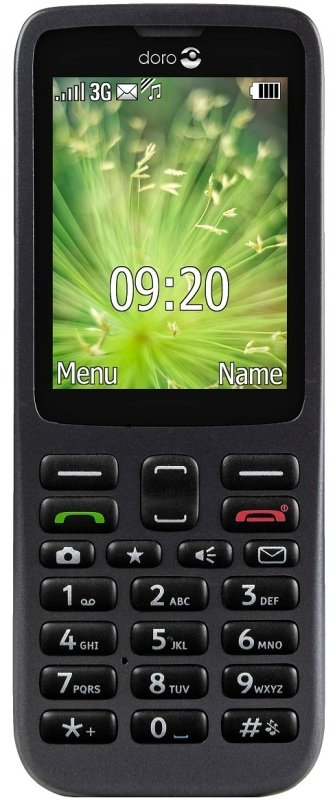 "Image of Doro 5516 2.4"" Display 3G Mobile Phone - Black"