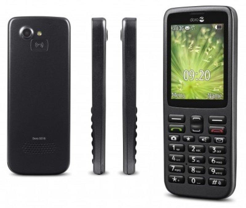 doro 5516 mobile phone black smartphones at ebuyer. Black Bedroom Furniture Sets. Home Design Ideas