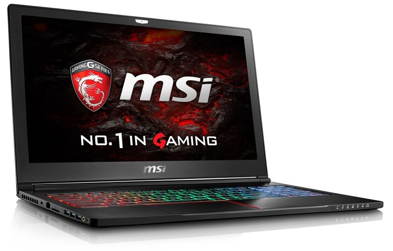 "MSI GS63VR 7RF(Stealth Pro)212UK Gaming Laptop Kabylake i77700HQ 2.8GHz 16GB DDR4 256GB SSD 2TB HDD 15.6"" FHD NoDVD NIVIDA GTX 1060 6GB WIFI Windows 10 Home"