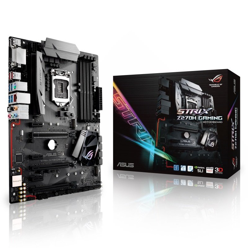 Asus Intel ROG STRIX Z270H GAMING LGA 1151 ATX Motherboard