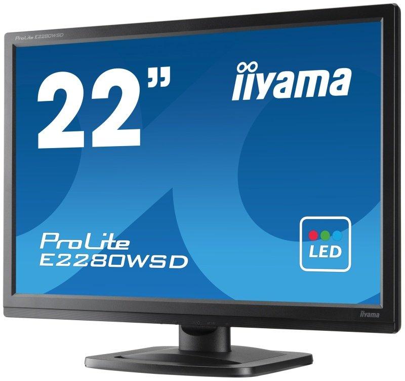 "Iiyama Prolite E2280WSD-B 22"" LED Monitor"