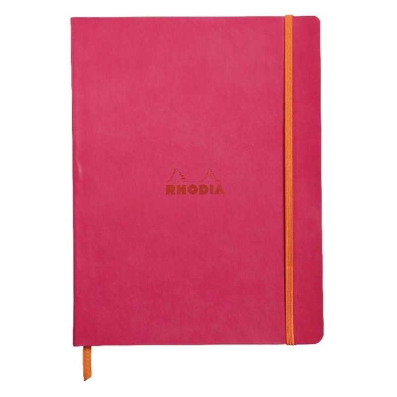 Rhodiarama Notebook Soft Cover 190 x 250mm 160 Pages Raspberry