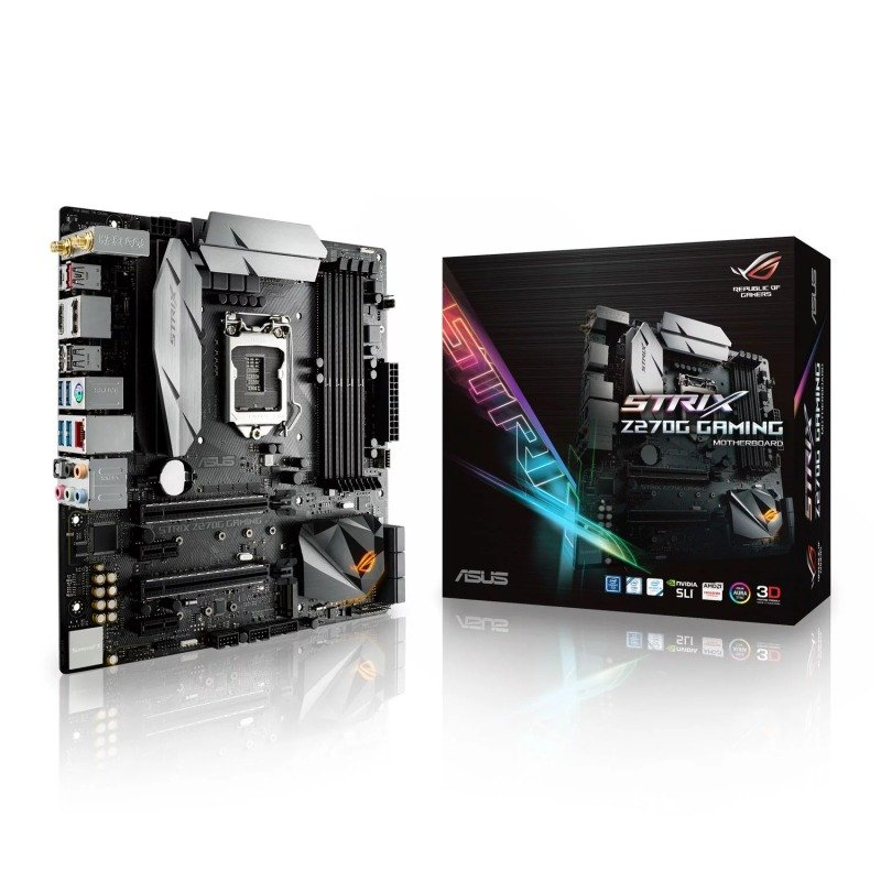 Asus Intel ROG STRIX Z270G GAMING LGA 1151 mATX Motherboard