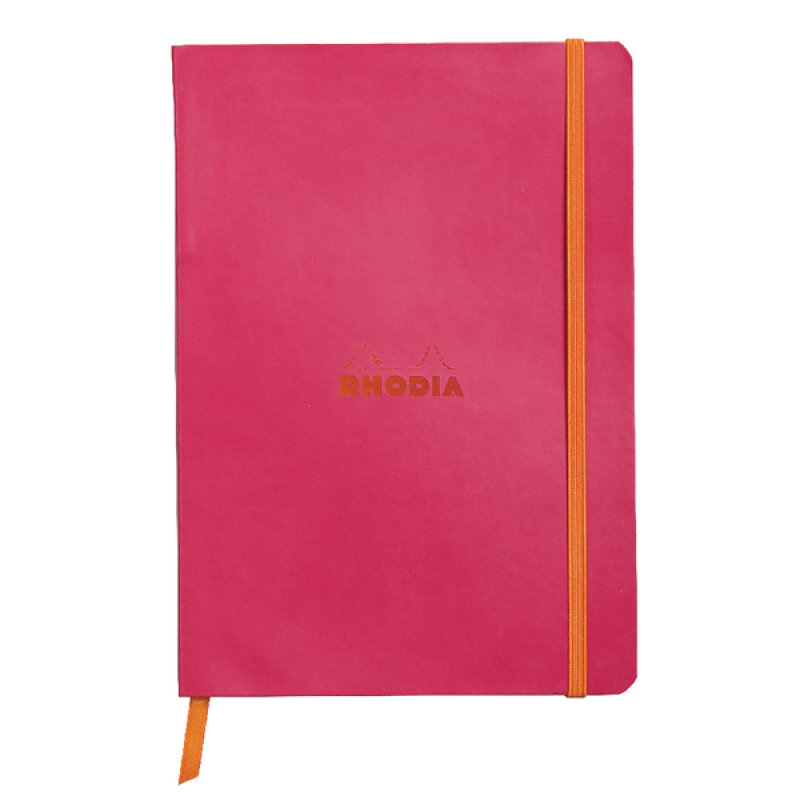 Rhodiarama Notebook Soft Cover A5 160 Pages Raspberry