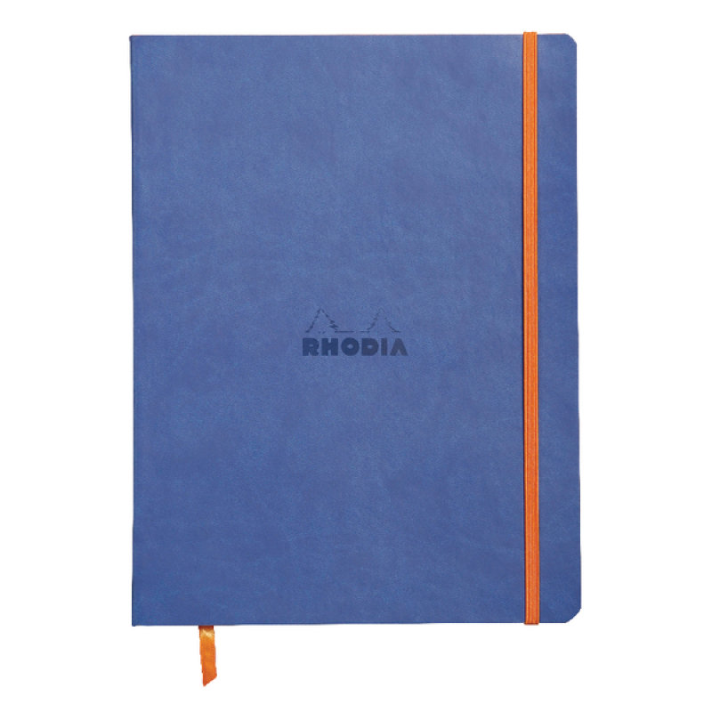 Rhodiarama Notebook Soft Cover 190 x 250mm 160 Pages Sapphire