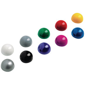 Maul Assorted Dome Magnets 0.6kg Capacity (Pack of 10)