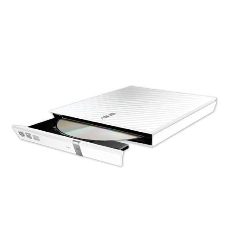 Asus Lite White  External 8x Slim Dvd Recorder  SDRW08D2SU