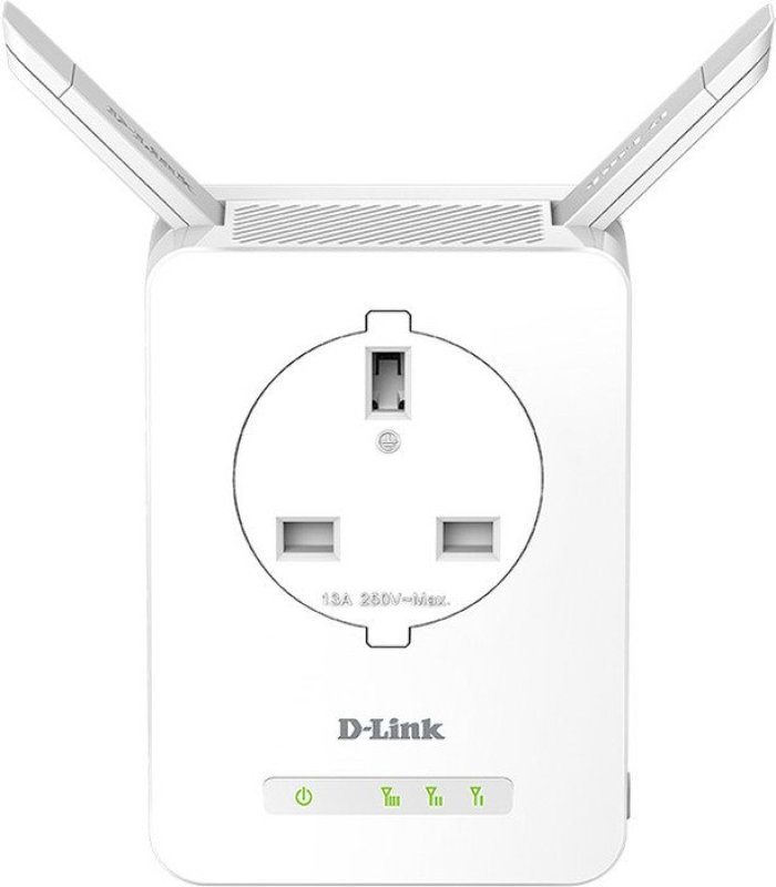 D-Link N300 Wi-Fi Range Extender with Power Passthrough