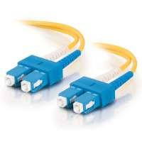 5m SC-SC 9/125 OS1 Duplex Singlemode PVC Fibre Optic Cable (LSZH) - Yellow