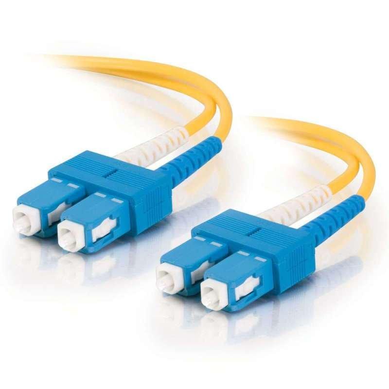 5m SC-SC 9/125 OS1 Duplex Singlemode PVC Fibre Optic Cable (LSZH) - Yellow