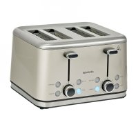 Brabantia 4 Slice Toaster Brushed Stainless Steel Almond