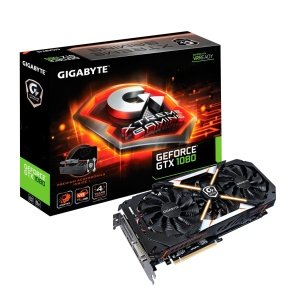 EXDISPLAY Gigabyte GeForce GTX 1080 Xtreme Gaming Premium Pack 8GB GDDR5X Dual-Link DVI-D HDMI DisplayPort PCI-E Graphics Card