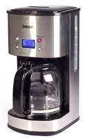 Igenix 800W 1.5 Litre Digital Filter Coffee Maker Brushed Stainless Steel