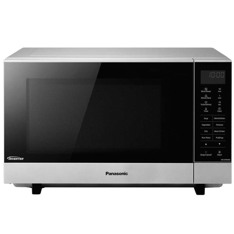 Panasonic 27 Litre 1000W Solo Flatbed Microwave Stainless Steel