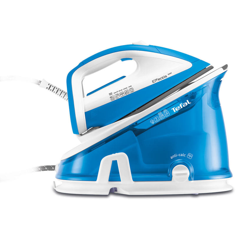 Tefal 2200W 5 Bar Effectis Steam Generator Blue and White
