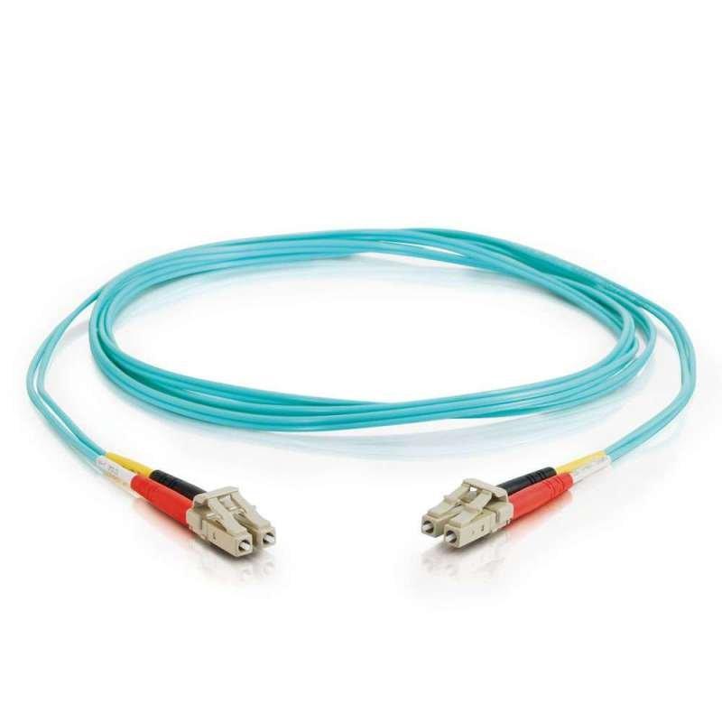1m LC-LC Male to Male Duplex 50//125 Multimode 10GB Fiber Patch Cable Aqua OM3