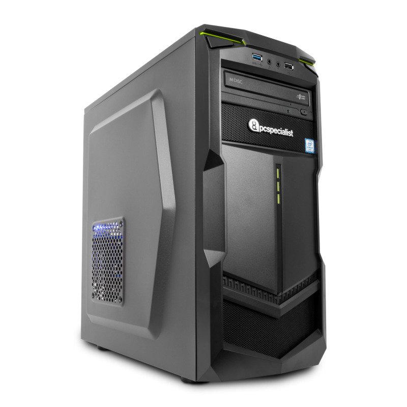 PC Specialist Vanquish Gamer VR II Gaming PC Intel Core i57400 3GHz 8GB RAM 120GB SSD 1TB HDD DVDRW NVIDIA GTX 1060 6GB WIFI No Operating System