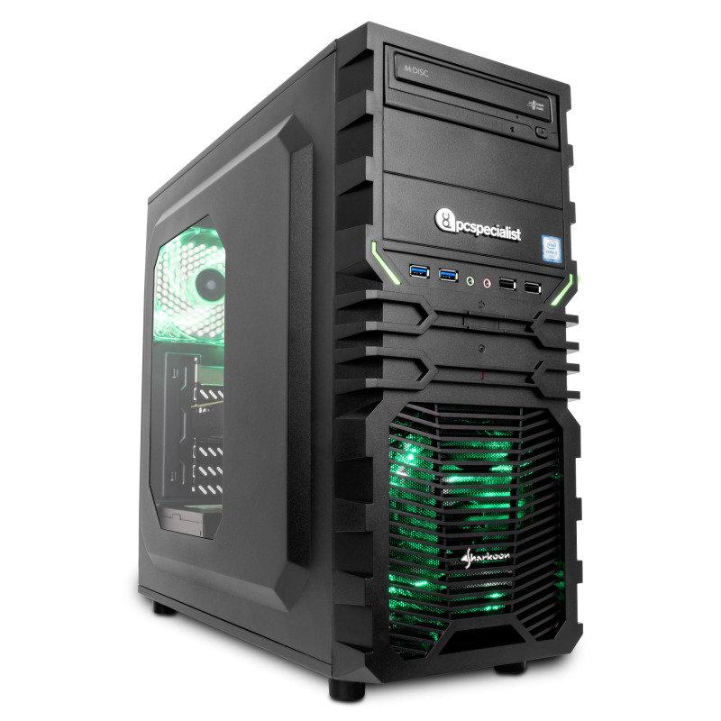 PC Specialist Vanquish Venom XT III Gaming PC Intel Core i57400 3GHz 16GB RAM 1TB HDD DVDRW NVIDIA GTX 1060 3GB WIFI Windows 10 Home