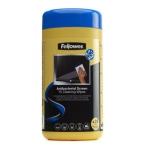 Fellowes Virashield Screen Cleaning Wipes - 75 Sheet Pack