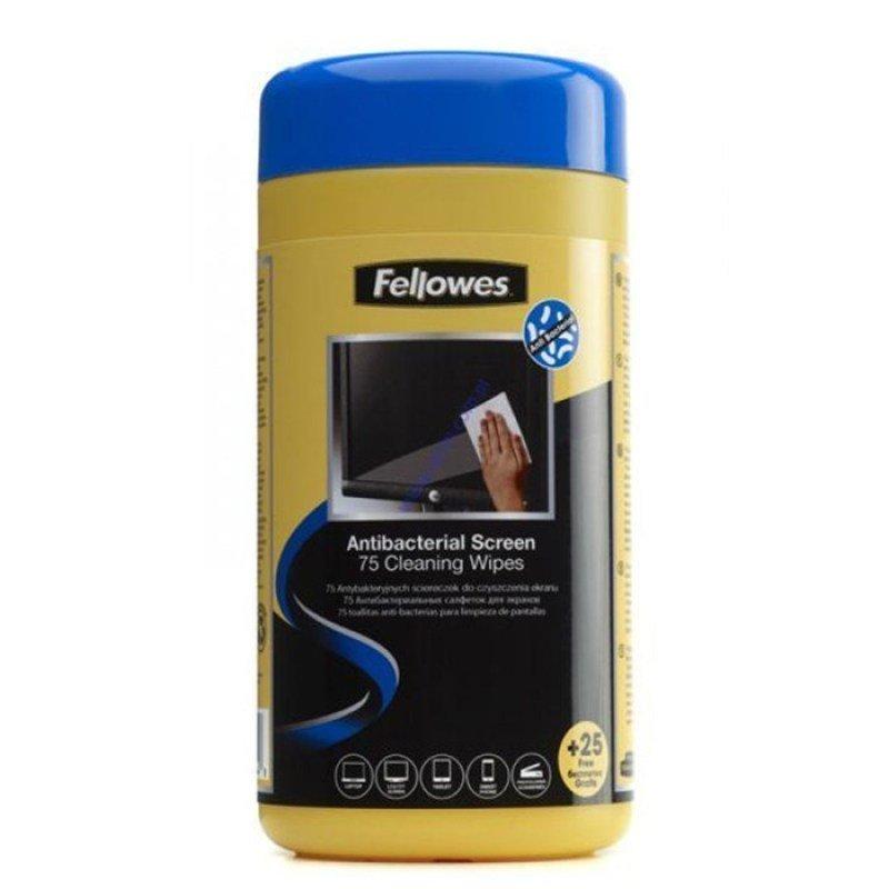 Fellowes Virashield Screen Cleaning Wipes - 75 Sheet Pack