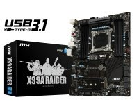 EXDISPLAY MSI X99A RAIDER Socket LGA2011-3 7.1-Channel HD Audio ATX Motherboard