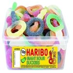 Haribo Giant Sour Suckers Tub