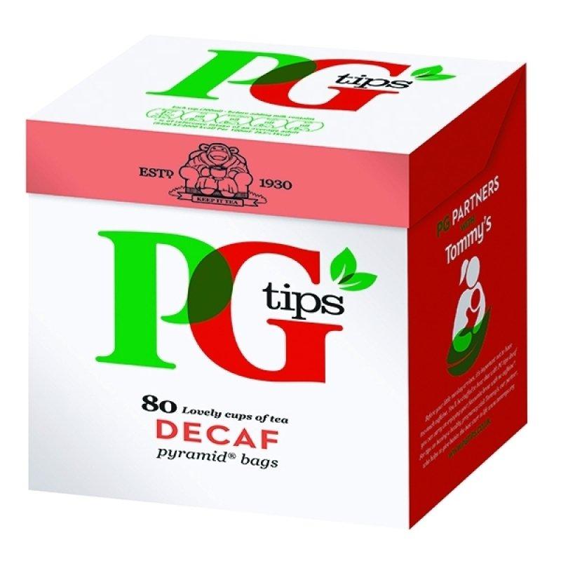 PG Tips Pyramid Tea Bag Decaffeinated (Pack of 80)