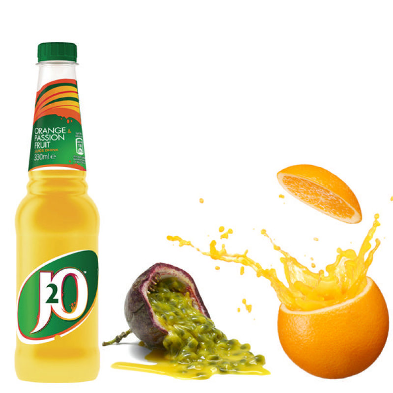 Britvic Orange & Passion Fruit J2O Juice Drink 330ml Plastic Bottle (Pack of 24)