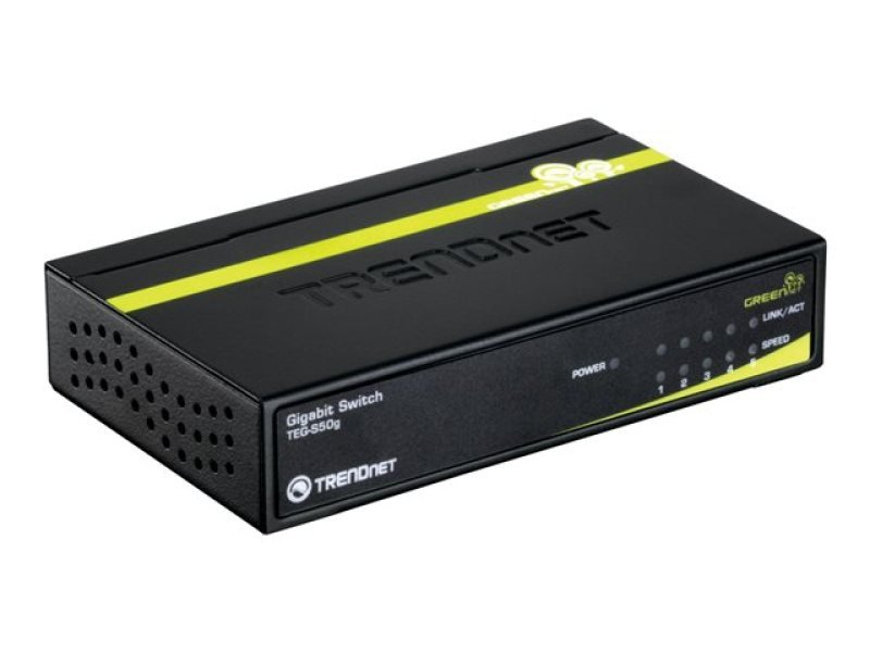 TRENDnet TEG-S50G 5-Port Gigabit GREENnet Switch with Metal Case