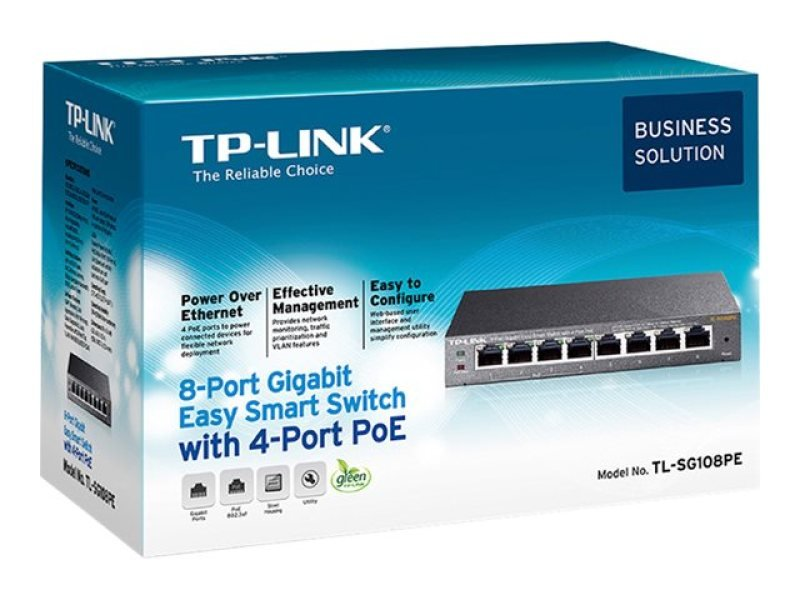 TP-LINK Easy Smart TL-SG108PE 8 Port Switch