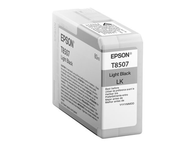 Epson T8507 High Yield Light Black Ink Cartridge
