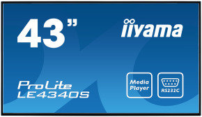 "Iiyama Prolite LE4340S-B1 43"" Full HD Large Format Display"